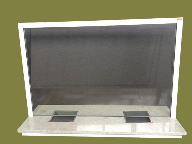 okno kasowe dwustanowiskowe